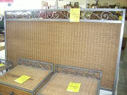 Wicker Bedroom Furniture Padre Island Woven Panel 4 Piece Bedroom Collection Size King Http