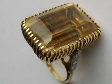 art deco gold ring ebay