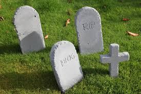 gravestone halloween decorations tombstone shelley makes