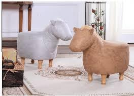 2017 new cute aminal stool horse ottoman living room chair