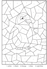 free printable coloring free printable colour by numbers 86 on