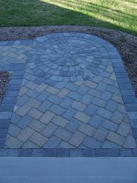 blue brick stone paver patterns pathway design u2026 pinteres u2026