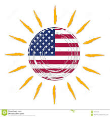 Flag Yellow Sun American Flag In Sun Stock Illustration Illustration Of Seasonal