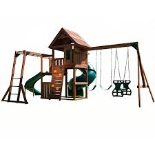 amazon com swing n slide grandview twist play set with two slides