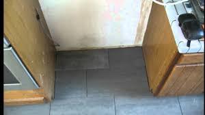 kitchen floor tile installation tips behind the refrigerator