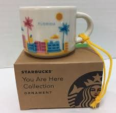 mug ornament new starbucks florida coffee mini mug ornament you are here palm