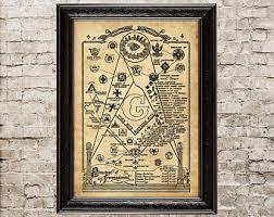 Masonic Home Decor Masonic Etsy