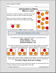 introduction to ratios sixth grade math math worksheets for