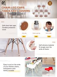 Chair Leg Covers To Protect Floor Amazon Com Outus Chair Leg Caps Silicone Floor Protector Round