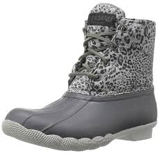 womens duck boots sale amazon com sperry top sider s saltwater prints boot