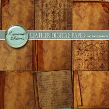 leather scrap book leather texture digital scrapbook paper pack printable