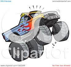 monster trucks clipart clipart of a cartoon monster truck with flame paint doing a