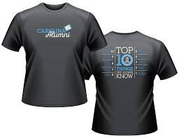 alumni tshirt top 10 things sleeve t shirt gray unc general alumni