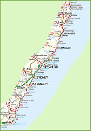 map of new south wales new south wales coast map