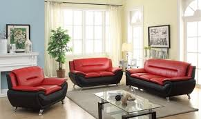 Red And Black Furniture For Living Room by London Black And Red Living Room Set 2pcs Sofa Loveseat Kassa