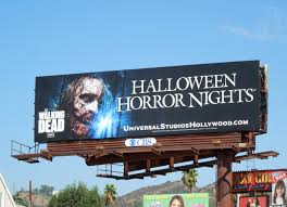 walking dead halloween horror nights 2016 halloween and tv billboards around l a in october jason in