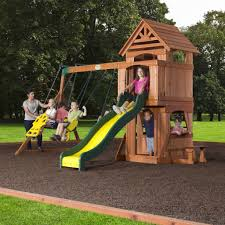 brookfield wooden swing set special
