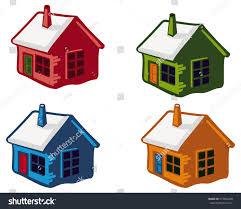 cute little house cute little houses snowy roofs vector stock vector 512962438