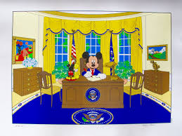 disney mickey mouse for president limited edition serigraph art