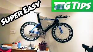 How To Hang Pictures On Wall by How To Hang Your Bike On A Wall Youtube