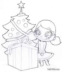 christmas tree presents coloring pages hellokids