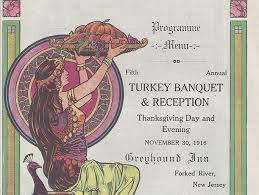 when thanksgiving meant a fancy meal out on the town arts
