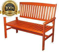 2 seater hardwood garden bench outdoor patio wood furniture weather