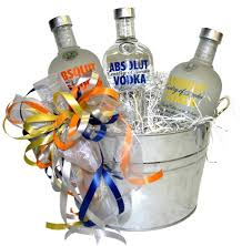vodka gift baskets charity raffle s day absolut vodka deluxe gift basket