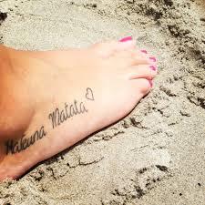my hakuna matata tattoo my tattoos pinterest hakuna matata