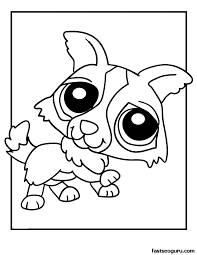 puppy print free coloring pages art coloring pages
