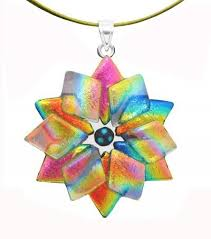 glass star pendant necklace images 399 best dichroic glass jewelry images fused glass jpg