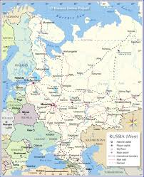russia map map of european russia nations project