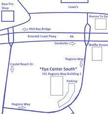 destin map locations eye center south dothan panama city destin