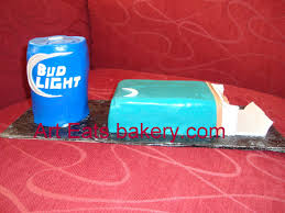 beer can cake 3d bud light beer can and newports birthday cake arteatsbakery