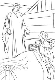coloring page angel visits joseph moroni appears to joseph smith in his room coloring page free