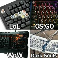 Meme Keyboard - no way in hell will i buy an expensive keyboard for darksouls
