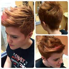 hairstyles that look flatter on sides of head i did this cut for rae she has short back and sides with a longer