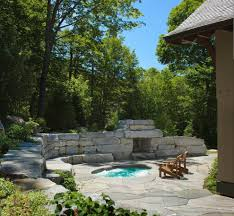 phoenix inground tub pool contemporary with blue tile stone