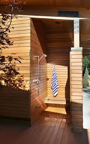 Outdoor Shower Cubicle - 33 design ideas for wooden and metal outdoor shower enclosures