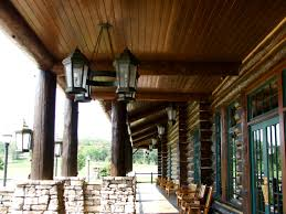 this type wood ceiling above porch and upper porch roof lining
