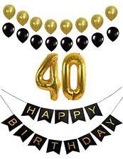 40th Bday Decorations Happy 40th Birthday Wooden Signature Number Ebay