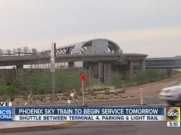 light rail to sky harbor phoenix sky train eases commute for sky harbor passengers abc15