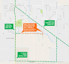 Az City Map Farrell And Porter Roads Closed For Much Of June News