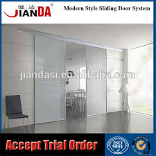 Internal Glass Sliding Door by Interior Partition Semi Automatic Aluminum Door System For Glass