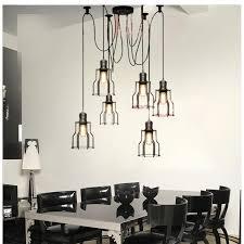 loft vintage industrial spider arms pendant light dining room
