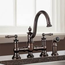 Two Handle Pull Down Kitchen Faucet Faucet L Vintage Bridge Kitchen Lever Handles Oil Rubbed Bronze 2