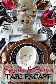 olla podrida skulls u0026 bones tablescape