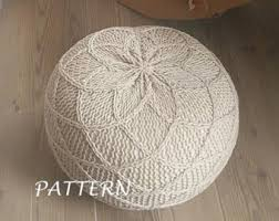 Crochet Ottoman Pattern Knitted Pouf Pdf Pattern Pouf Poof Knitting Ottoman By Iswoolish