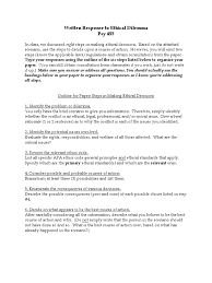 how to write ethics paper ethical dilemma assignment