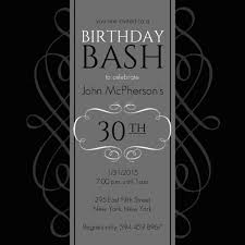 black and grey formal soiree 30th birthday invite birthday